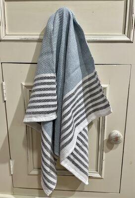 Black Stripes with Blue Tea Towel