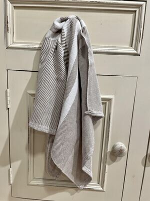 Beige with White Stripes Tea Towel