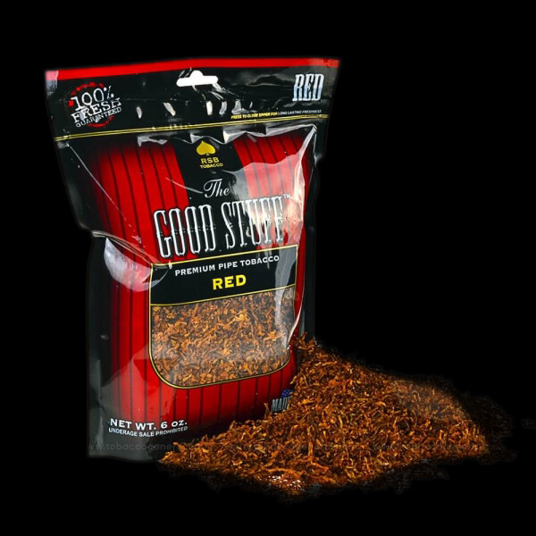 Good Stuff Pipe Tobacco 6oz. Full Flavor Reds