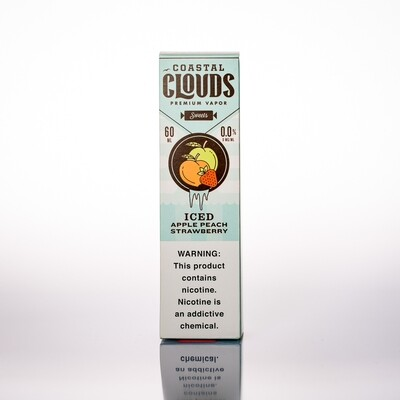 Coastal Clouds Iced Apple Peach Strawberry 60ml