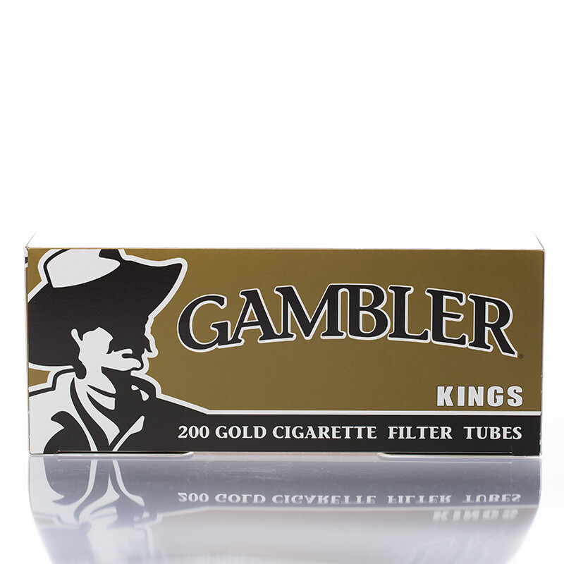 Gambler Cigarette Filter Tubes King Gold 200ct.