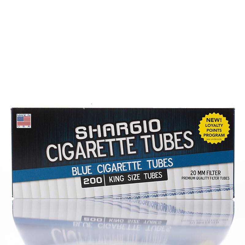 Shargio Cigarette Tubes King 200ct Blue