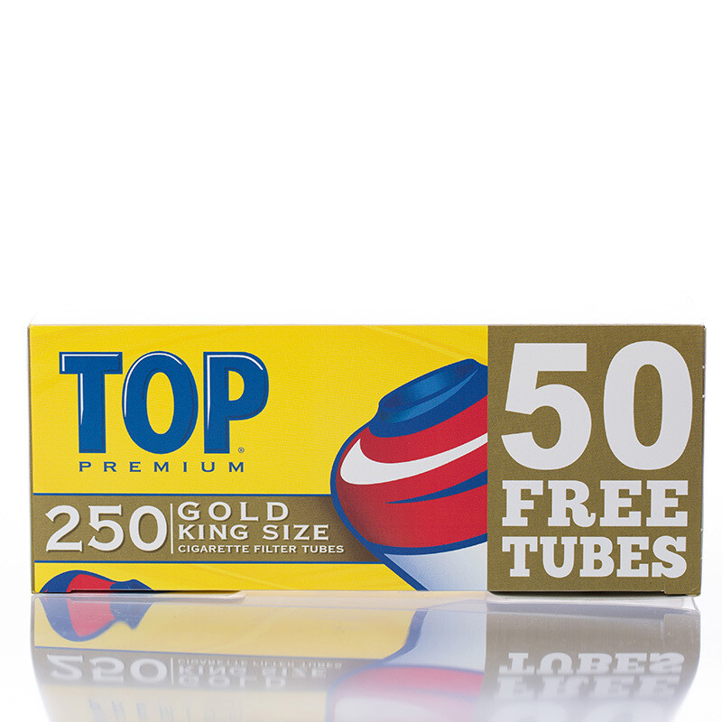 Top Gold King Size Tubes 250 ct.