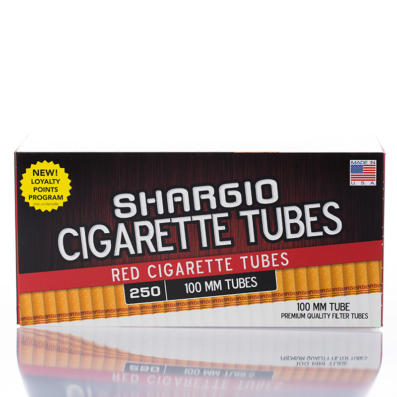 Shargio Cigarette Tubes 100mm 250ct Red