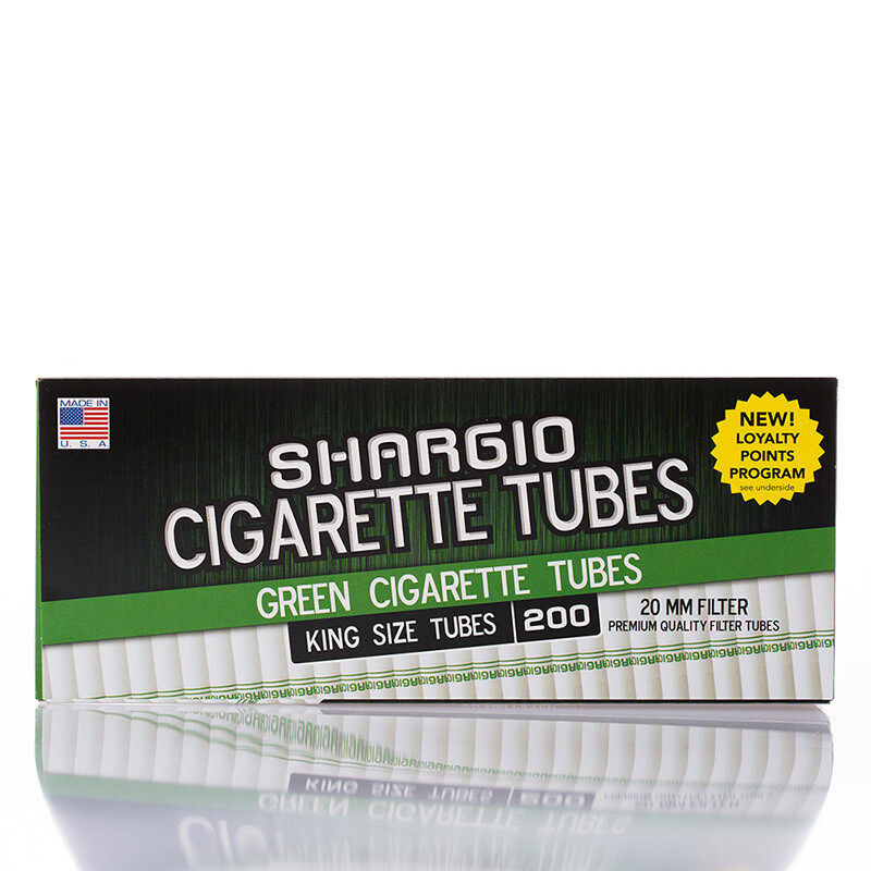 Shargio Cigarette Tubes King 200ct Menthol Green
