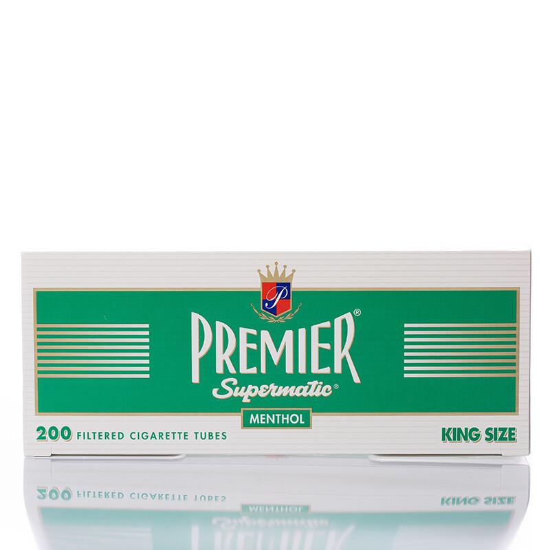 Premier Supermatic Filter Tubes King Menthol Green