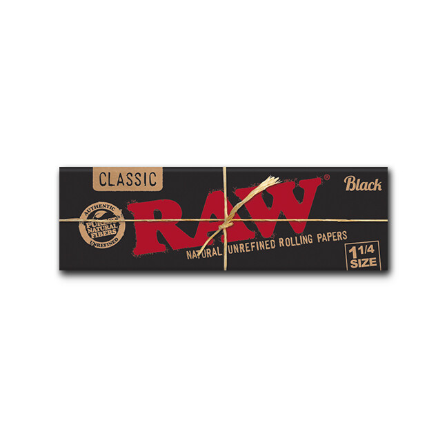 Raw Classic Black Natural 1 1/4
