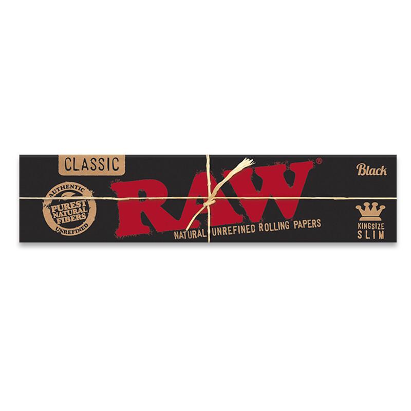 Raw Classic Black Natural King Slim
