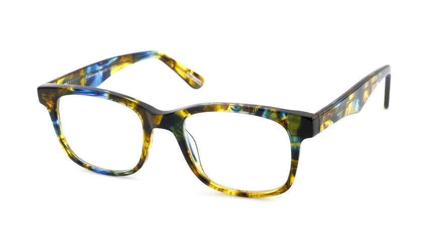 Frank and Lucie leesbril Eyequarium FL14700 blauw/geel +1.50