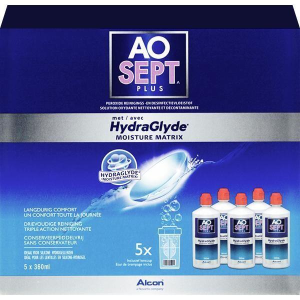 Aosept Plus HydraGlyde 6 maanden (5x360ml)