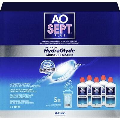 Aosept Plus HydraGlyde 6 months (5x360ml)