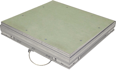 Люк ревизионный Maxitech Плюс 400x300 под плитку (мет.)