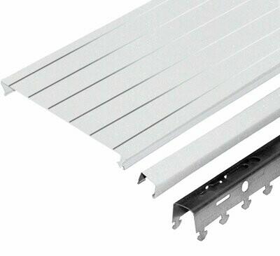 Комплект потолка д/ванной 1,7х1,7м A150AS HL0106 белый жемчуг с металлической полосой (алюм.)