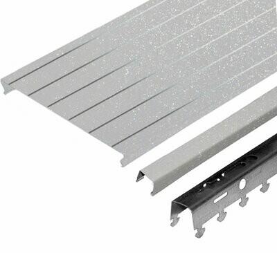 Компл. потолка д/ванной 1,7х1,7м A150AS HL0206 сереб. металлик с метал. полосой (алюм.)
