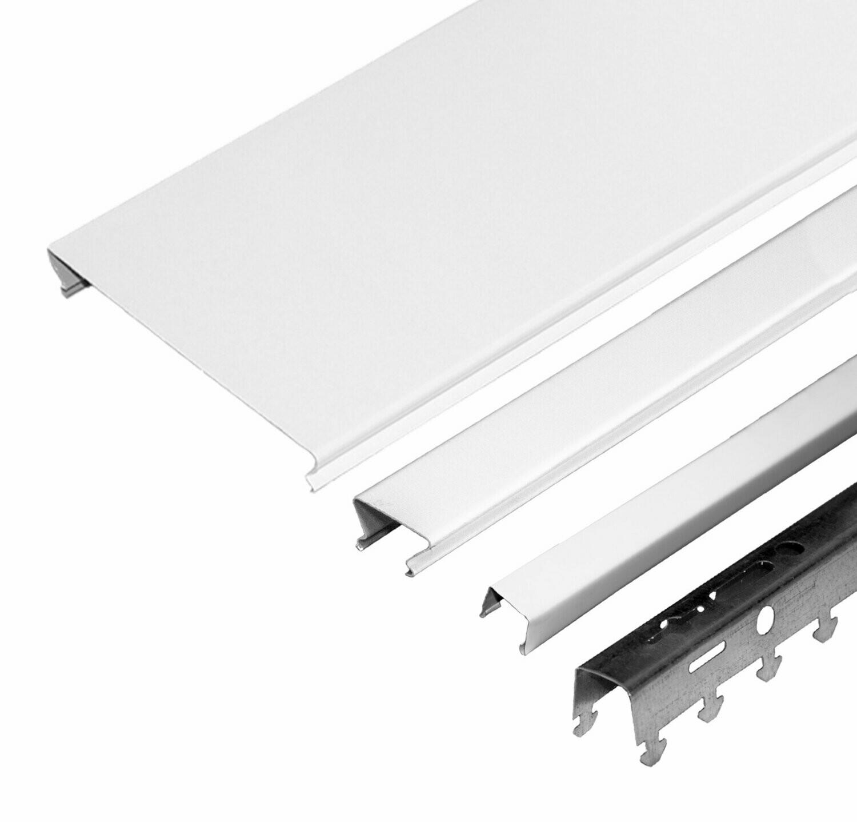 Компл. потолка д/ванной 1,7х1,7м A100AS+A25AS белый матовый+белый матовый (алюм.)