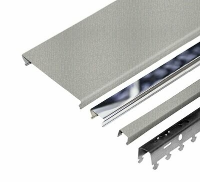 Компл. потолка д/ванной 1,7х1,7м A100AS+A25AS металлик+хром (алюм.)