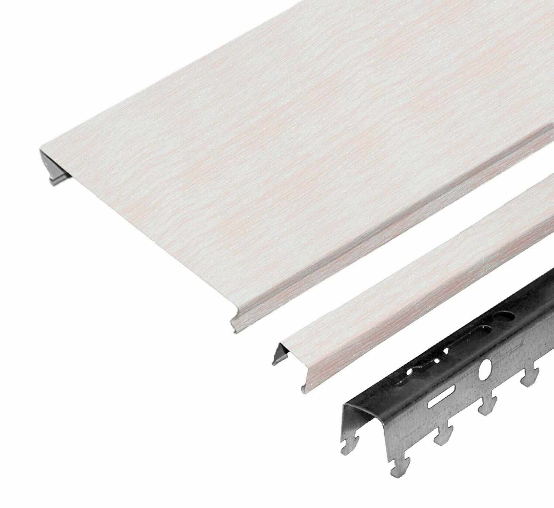 Компл. потолка д/ванной 1,7х1,7м A100AS HL0107С бледно-розовый штрих на белом (алюм.)