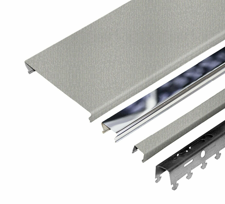 компл. потолка д/туал 1,35х0,9м A100AS+A25AS металлик+хром (алюм.)