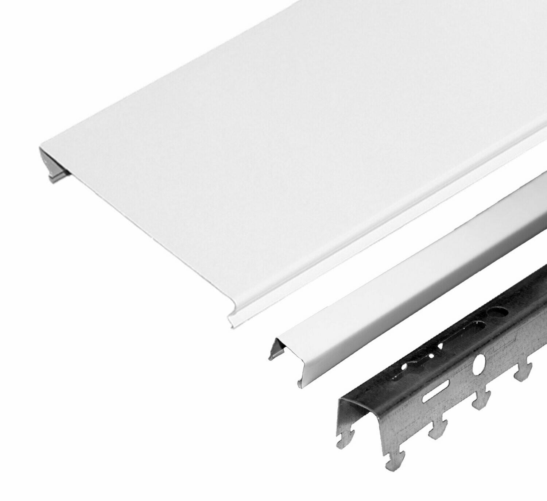 Компл. потолка д/туал 1,35х0,9м A100AS белый матовый (алюм.)