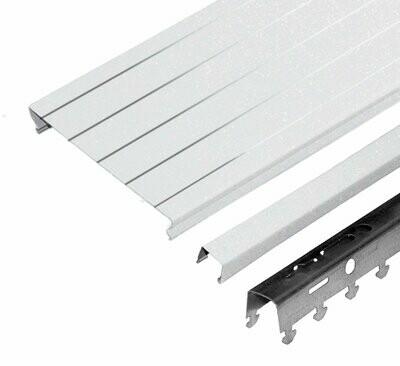Компл. потолка д/туал 1,35х0,9м A100AS HL0106 белый жемчуг с метал. полосой (алюм.)