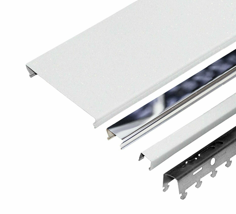 Компл. потолка д/туал 1,35х0,9м A100AS+A25AS белый жемчуг+хром (алюм.)