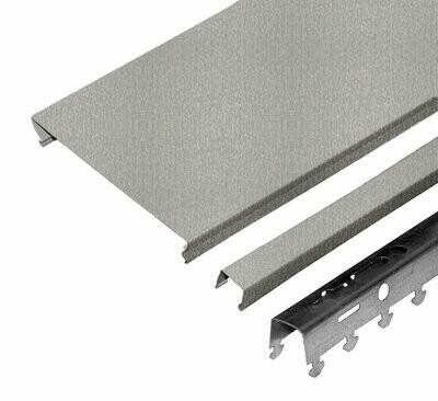Компл. потолка д/туал 1,35х0,9м A100AS металлик (алюм.)