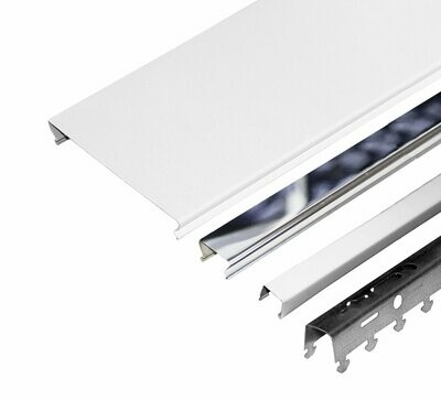Компл. потолка д/туал 1,35х0,9м A100AS+A25AS белый матовый+хром (алюм.)