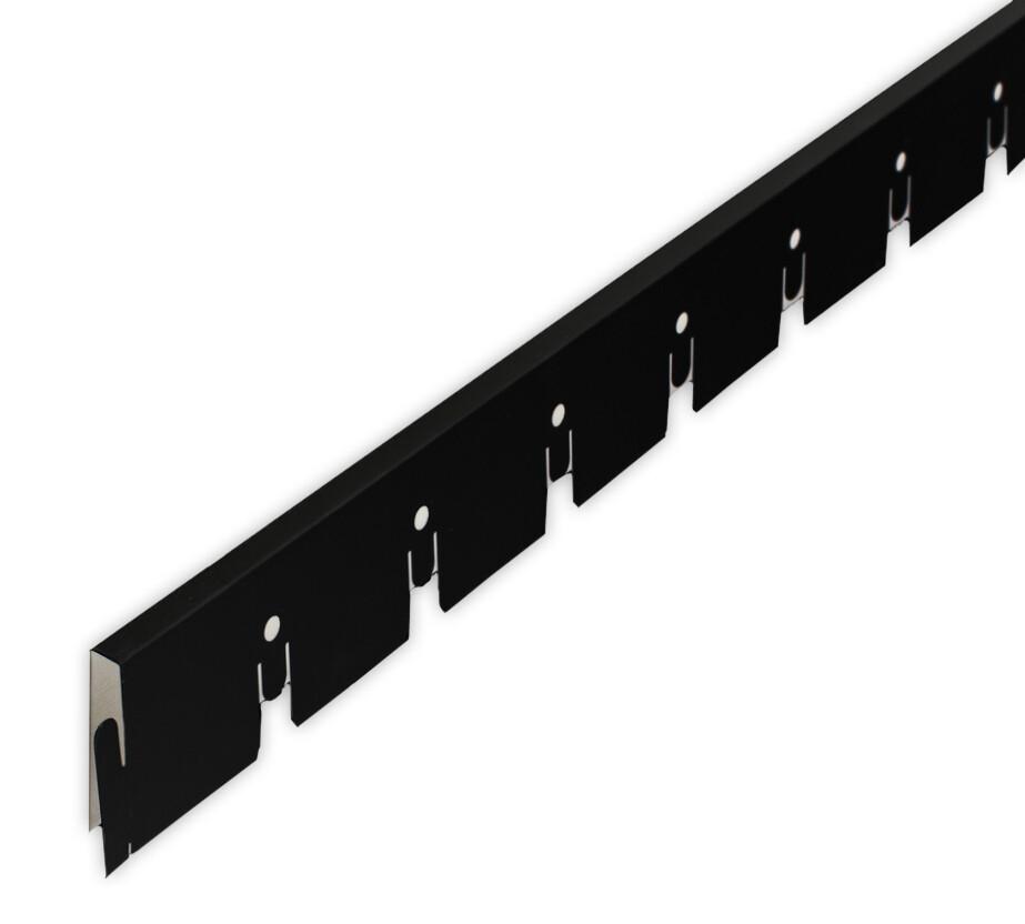 Рейка Grigliato-E нап. 50x50 h40 b10 A911RUS06 черный L=0.60 (алюм.)