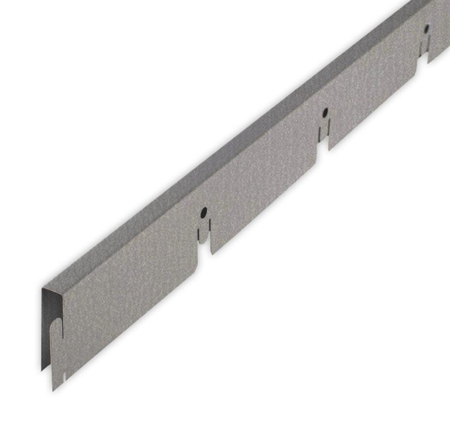 Рейка Grigliato-E нап. 100x100 h40 b10 A907RUS04 металлик L=1.20 (алюм.)