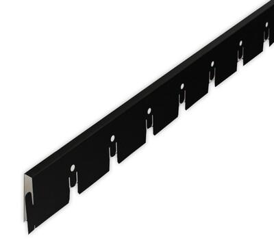 Рейка Grigliato-E нап. 50x50 h40 b10 A911RUS06 черный L=2.40 (алюм.)