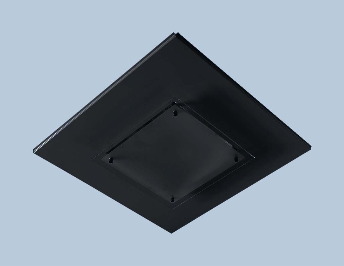 Светильник RGS 218 встраиваемый в Т-15 ALBES STRUNA с матир. силикат. стеклом 9005 черный