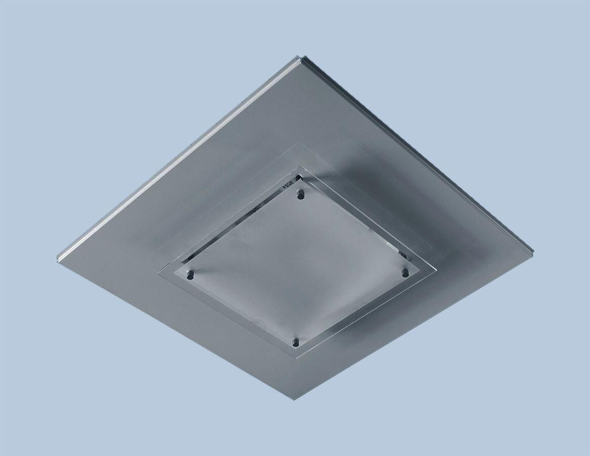 Светильник RGS 218 встраиваемый в Т-15 ALBES STRUNA с матир. силикат. стеклом 9006 металлик