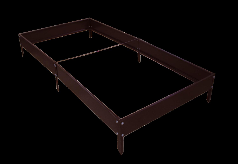Грядка садовая оцинкованная, 1х2m, цвет коричневый
