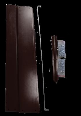 Удлинитель высокой грядки оцинкованный, 1х1m, цвет коричневый