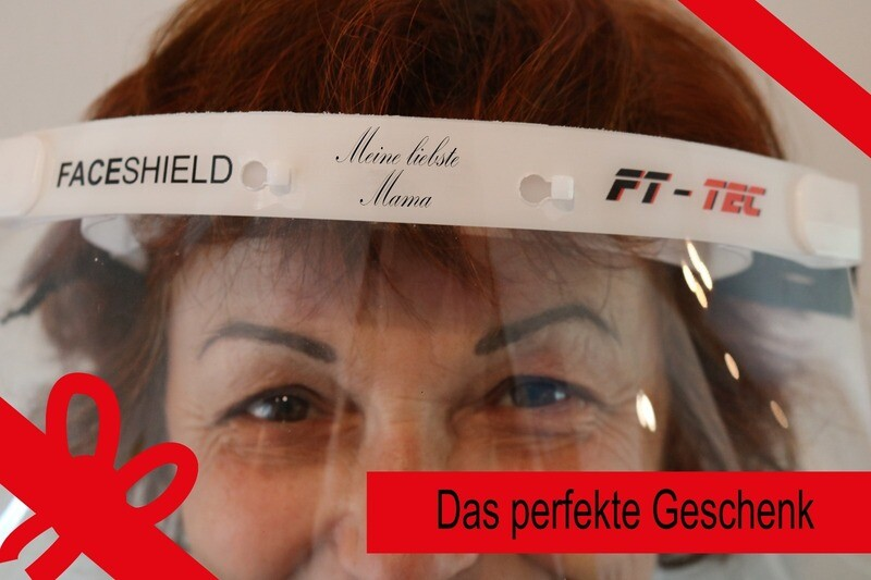 FACEshield Eco individually printed (slogans specified) (state slogan at the end of the ordering process under comments)