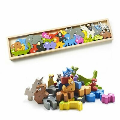 BeginAgain Animal Parade A to Z Puzzle and Playset - 22 Inch