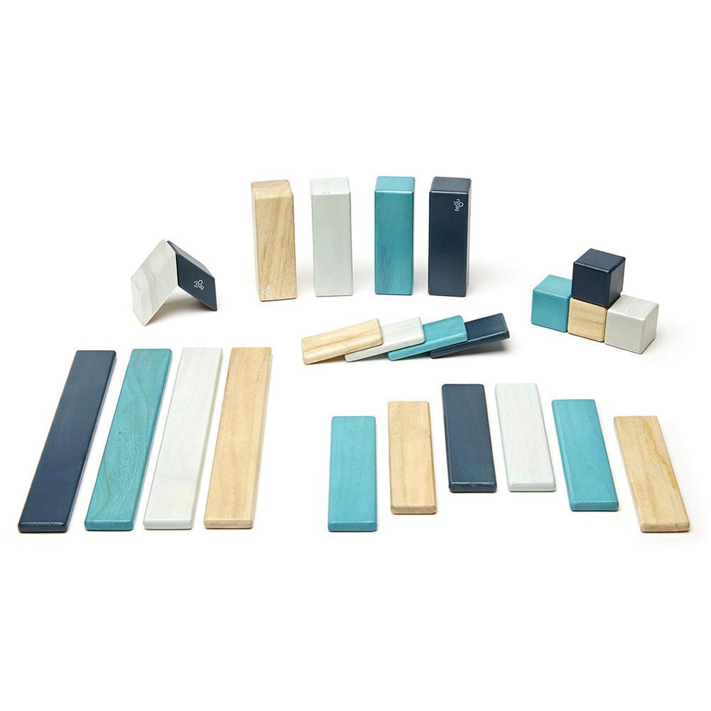 TEGU Magnetic Blocks Classic 24 pc set - BLUES