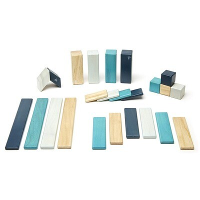 TEGU Magnetic Blocks Classic 24 pc set - BLUES