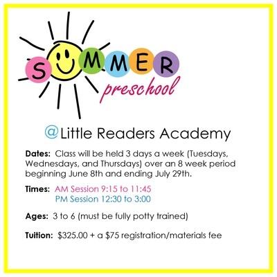 SUMMER PM Class / 12:30 - 3:00 pm