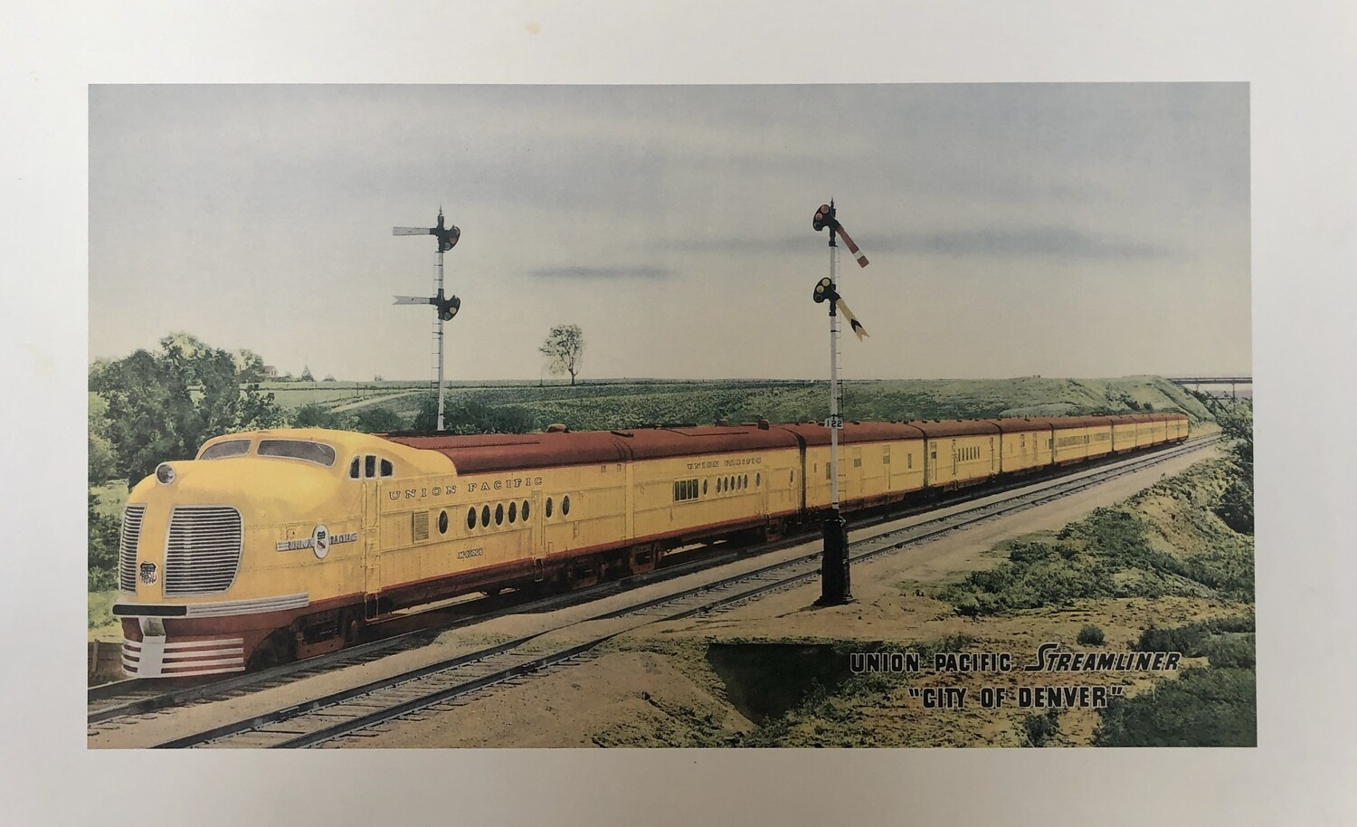 "Union Pacific Streamliner ""City of Denver"" Small Print"