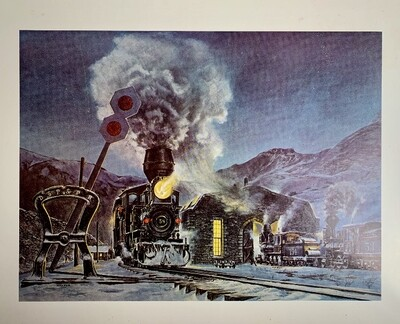 """DSP & PRR"" Steam Engine Print"