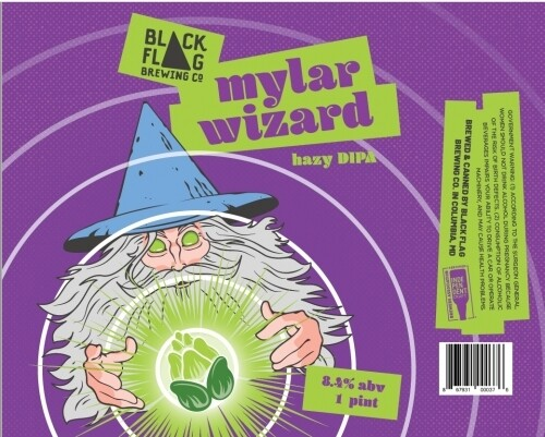 Black Flag - Mylar Wizard