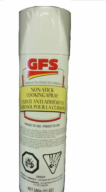 CANOLA OIL COOKING SPRAY - JUMBO CAN 595g can