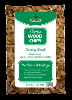 Northern Cedar Chips, bagged (2 Cu Ft)
