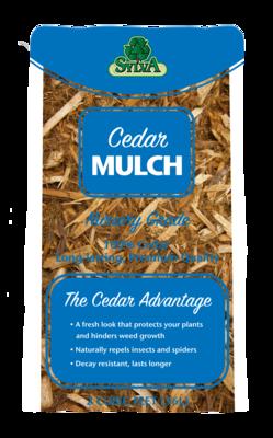 Northern Cedar Shredded  Mulch 2 Cu Ft Bags
