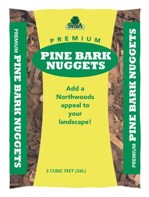 Pine Bark Mulch 2 Cu Ft Bags