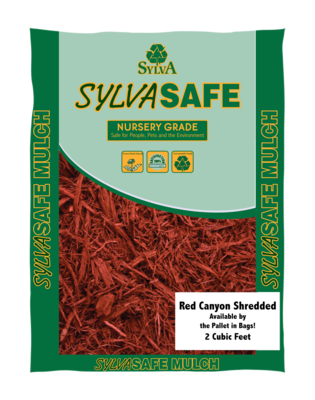 Red Canyon™ Shredded Mulch, 2 Cu Ft Bags