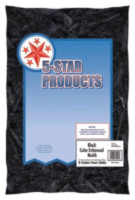 Five Star Black Colored Mulch 2 Cu Ft Bags