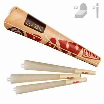 Raw - Classic cones 3/pack