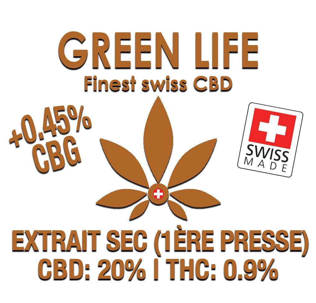 GREEN LIFE - EXTRAIT SEC 1ERE PRESSE 2.5gr